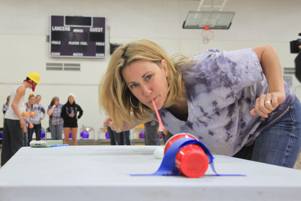 Minute to Win It assembly ignites competition between students and teachers