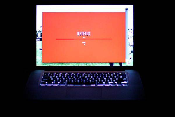 netflix on laptop