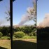 Three photos show the progression of the Cocos fire which started near Cal State San Marcos on May 14.