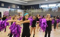Dance program prepares for halftime performance