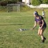 Senior Alex Gardner warms up during lacrosse  practice.  Gardner also has been playing soccer for thirteen years.