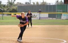 Softball runs away with the win