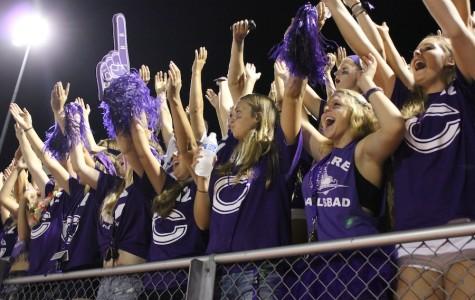 Loud crowd bleeds purple pride