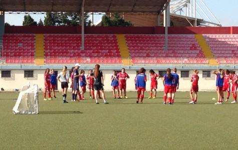 Julia Taliana trains with national soccer team in Malta