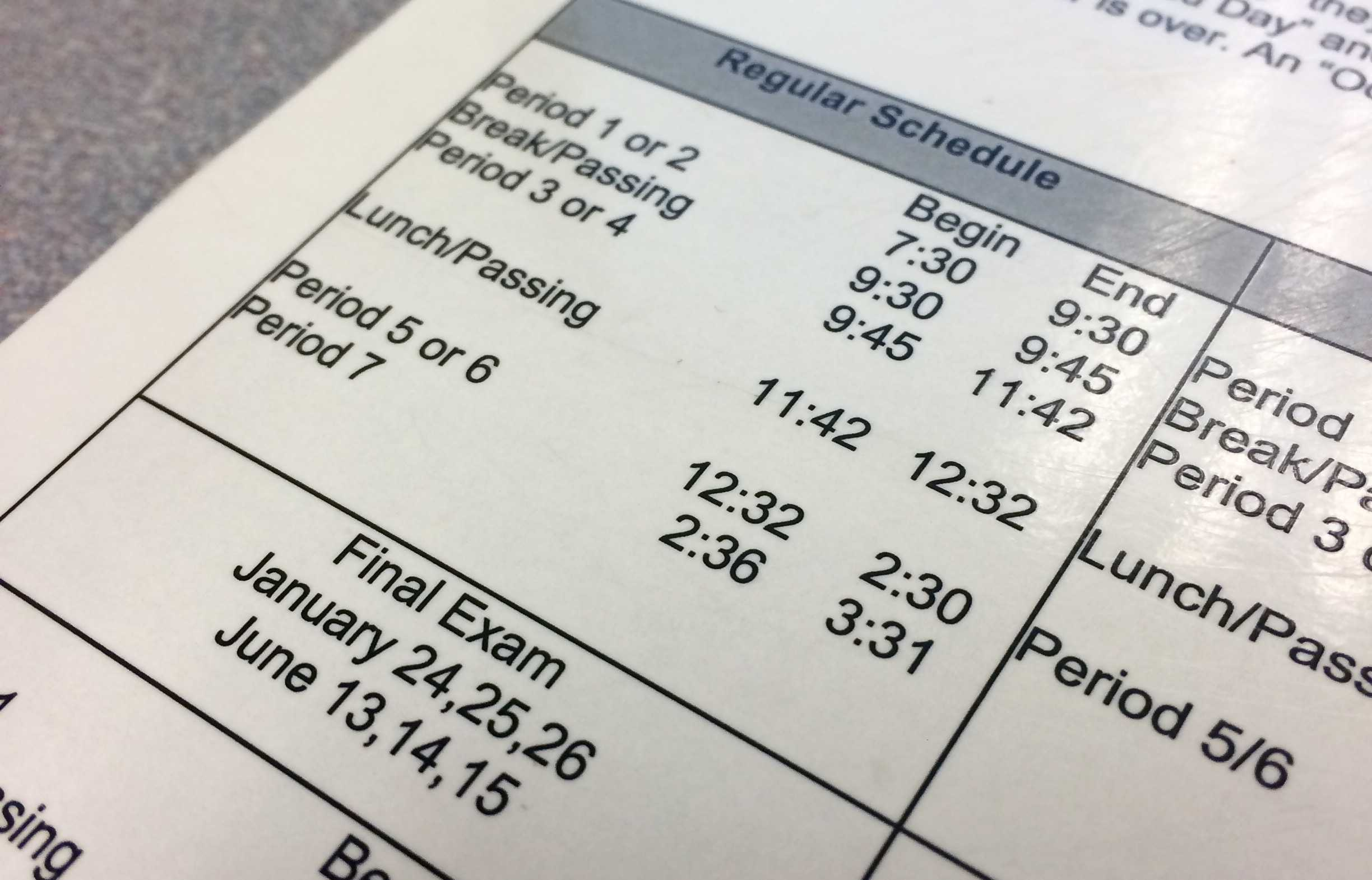 The new bell schedule makes sure that students have more minutes in the classroom, while allowing for more early release Mondays.