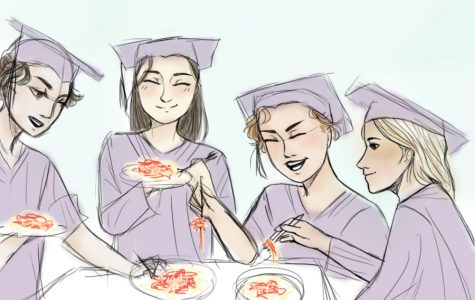 Seniors celebrate with spaghetti
