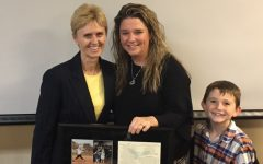 Amanda Waters scores herself in Husson University's Hall of Fame
