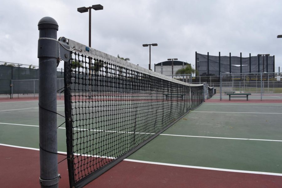 The tennis courts at Carlsbad High will be open for the summer activities. Sports such as tennis are a good way to get outside and get some exercise this summer.