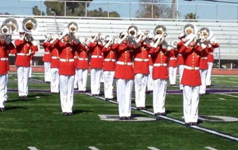 U.S Marine Drum & Bugle Core and Silent Drill Platoon return to Carlsbad for second assembly