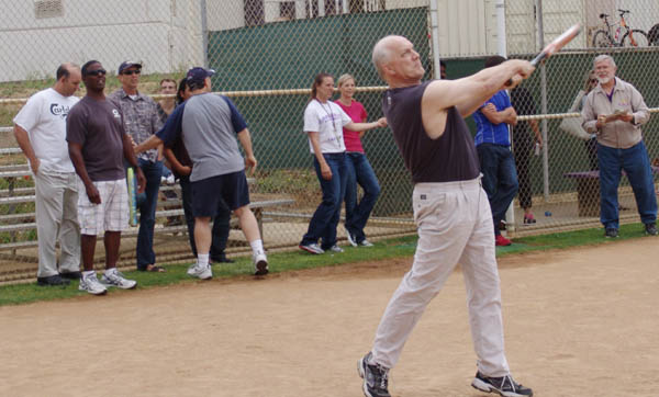 Students and faculty battle out in the Homerun Derby at lunch, ending in victory for the teachers.