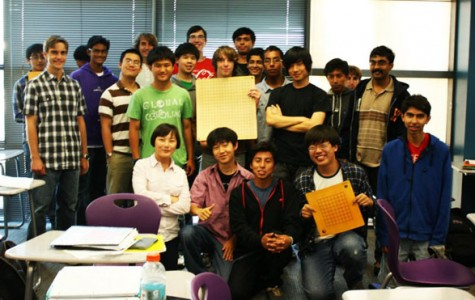 Friends at Go Club pose during a lunch  meeting.  (photo credit: Jun Hee Kim)