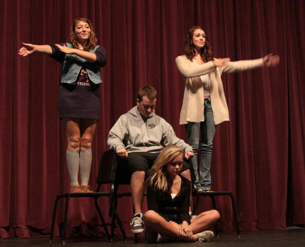 Advanced theatre puts in the long hours at the CAC, so come out and support their fundraiser in room 5002 on Nov. 1 at 6p.m. (credit: Jared Cohn 10-22-12)