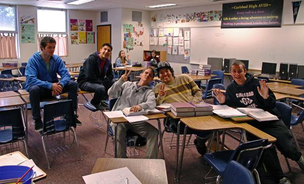 Seven students in Mrs. Brittons fifth period class came to class today.  During the period, they worked to catch up on classwork and finished work assigned for the upcoming two week break.