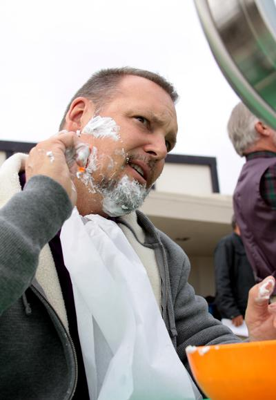 Mr. Spanier summing up his shave.