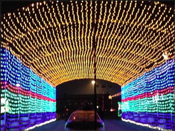 After viewing some spectacular illuminations, drivers pass through a tunnel of lights and the end of the show.