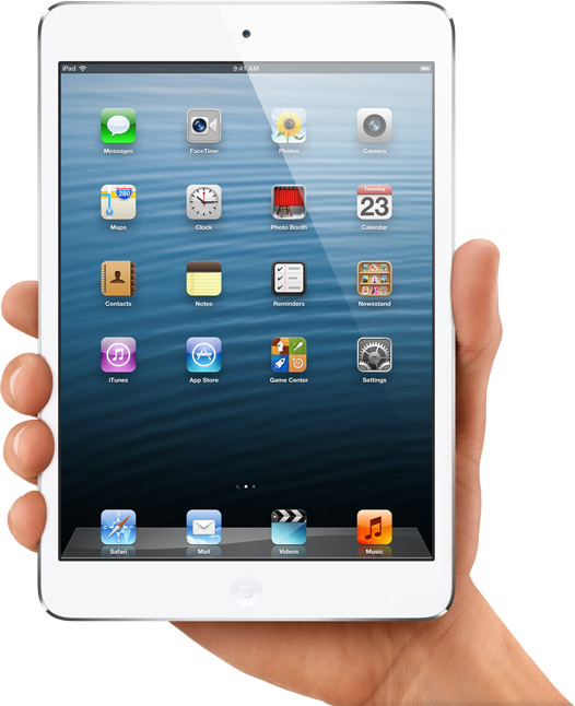 The new iPad Mini released this fall offers many of the same specifications as the iPad in a smaller and lighter package for consumers who are looking to downsize.