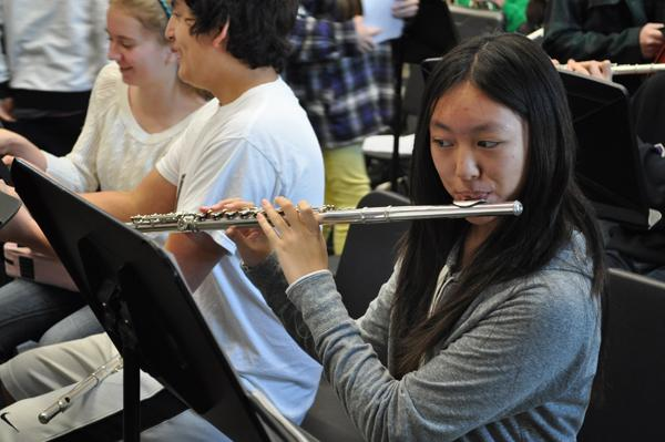Ashley Wang, a student in the CHS band, spends her free time practicing the flute. She has been playing the flute for nearly 5 years and looking forward to her upcoming competition.