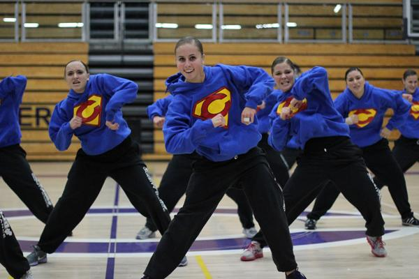 The Lancer Dancers showed off their routine in the Hip Hop category during the Friends and Family performance. With a packed gym filled with camera flashes and cheers at the swelling moments of the song, the dancers put al their energy into the dance and were fueled by the support of the crowd.