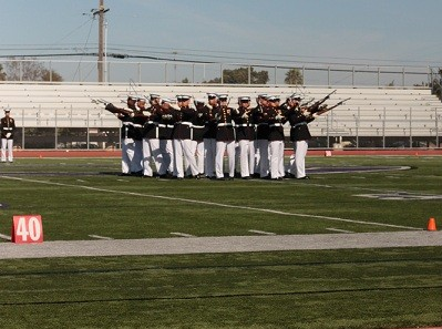 On March 14, the Marine Drum and Bugle Corp performed for Carlsbad High. Along with the Marine Corps musical offerings, the Silent Drill Team, who use no verbal commands during their set, performed with great precision to an appreciative crowd.