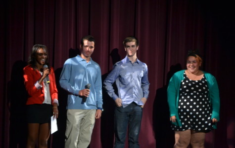 Seniors Keziah Njoroge and Levi Sebahar announce Lancer Idol finalists. Sophomore Sierra Gonzalez and junior Dave Stewart will head to the finals at Canyon Crest High School for the North County finals competition.