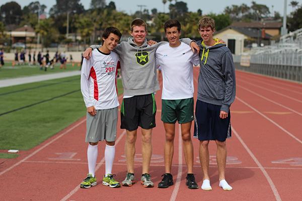 Freeman, Schaefer, Martin, and Kenney comprise the winning team.