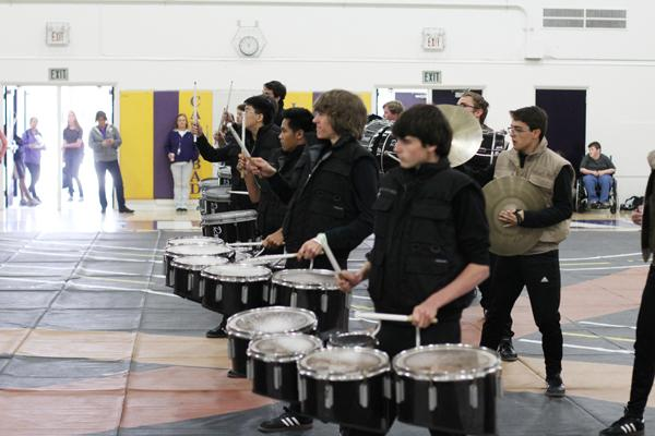 The Carlsbad Drumline performed at the assembly.