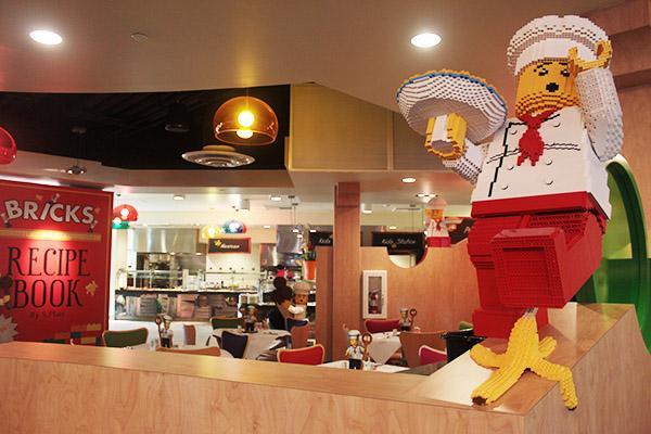 The largest restaurant, Bricks Family Restaurant, is a family-friendly, buffet-style restaurant.