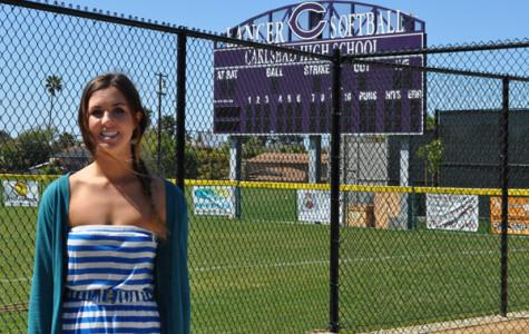Senior Rachel Fulton is a member of the varsity softball team and plays left field. After graduation she plans to attend Chapman or NYU.