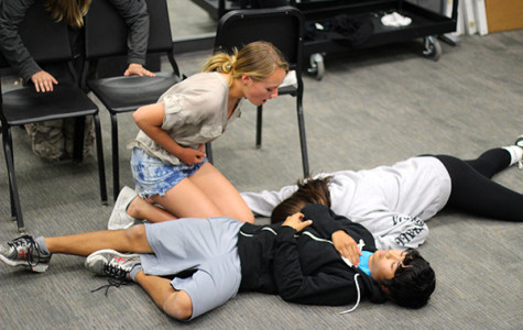 Middle school students act out Shakespeare's