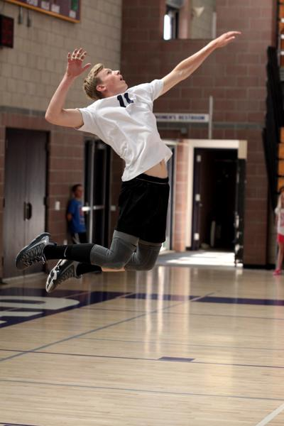 Jacob+Karleson+serves+at+the+CIF+playoff+game+against+San+Pasqual.+It+was+a+great+game+and+the+Lancers+came+out+victorious.