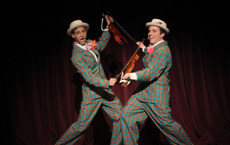Juniors Josh Collins and Evan Ridpath perform in Singin' in the Rain as Cosmo and Don Lockwood.