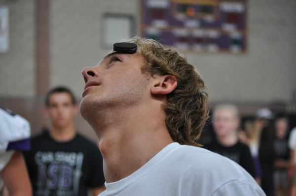During one of this years many school pep rallies, senior Kai Brody attempted to get an Oreo in his mouth using only his face.
