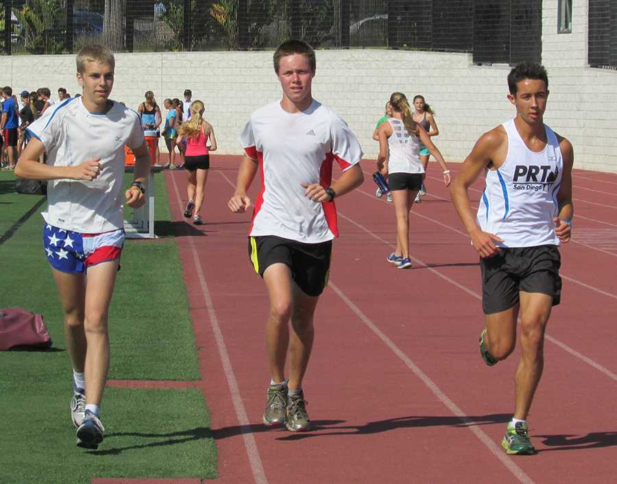 The captains of the CHS Cross Country team train on the track to win their next meet. The captains have a vital role in motivating and leading the rest of the team to victory.