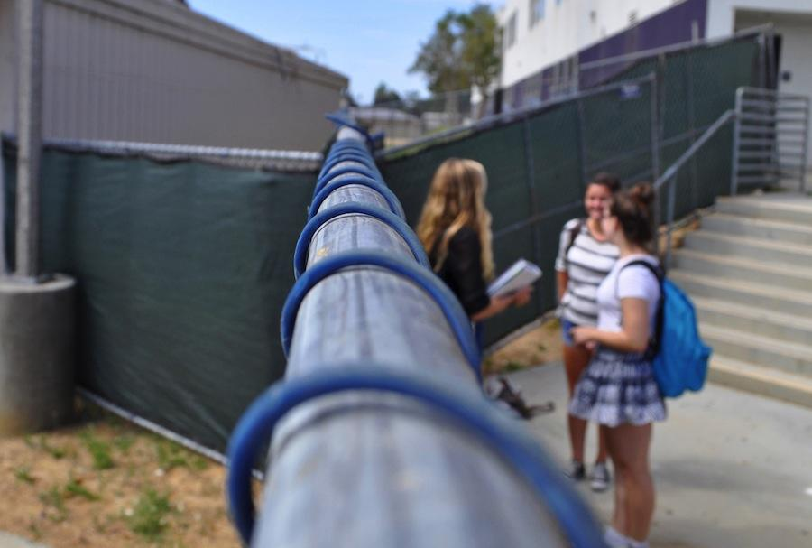 This year, a fence was put up separating Carlsbad High School from Carlsbad Village Academy. The fence was added to ensure the safety of all students on both campuses.