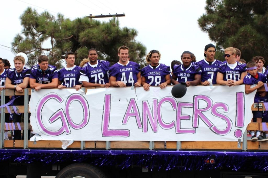 CHS+football+is+well+represented+during+the+Lancer+Day+parade.+Their+school+spirit+is+overflowing+as+they+look+forward+to+the+homecoming+game.+