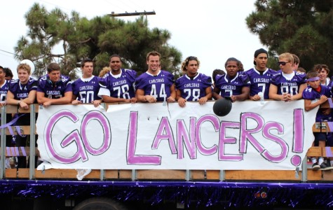 CHS football is well represented during the Lancer Day parade. Their school spirit is overflowing as they look forward to the homecoming game.