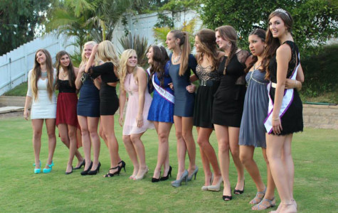 Several seniors pose in a variety of dresses and are the epitome of 2013's Homecoming style. Fashion lovers delighted in this opportunity to not only pamper themselves, but also buy a new dress. (Photo courtesy of Sara Harelson)