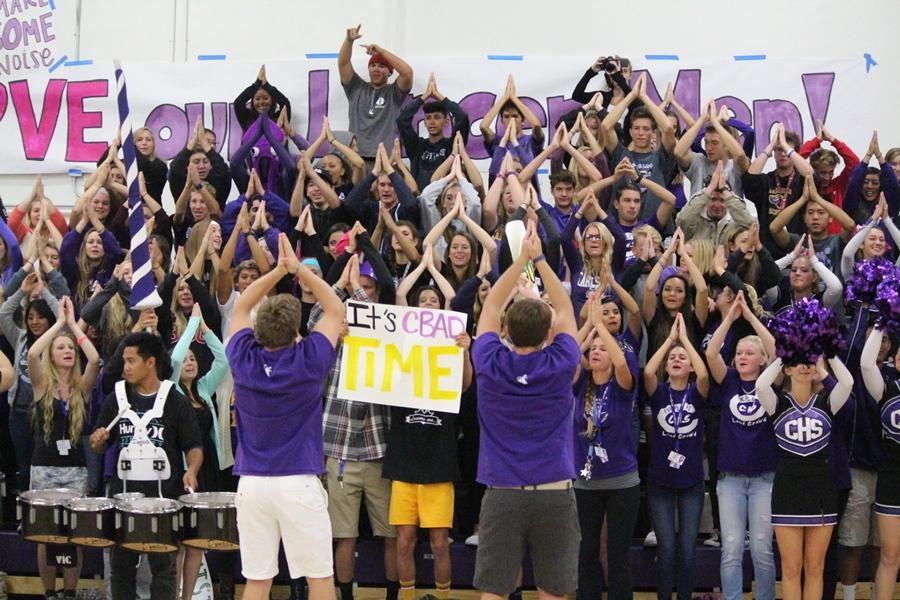 Students came out to support the football team at the 4:30 a.m. pep rally. Despite it being unusually early, the kids brought all of their excitement along with many Lancer cheers.