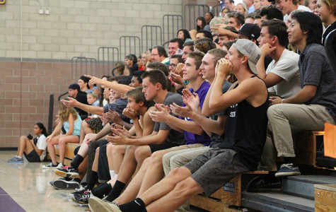During the girls volleyball game against Fallbrook, the noise boys debuted their