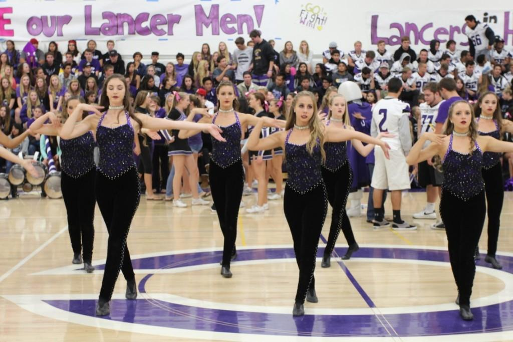 Lancer Dancers are up and dancing even at 4 a.m. Senior Taylor Kullman and Ashley Welzel are focused and ready to preform for NBC.