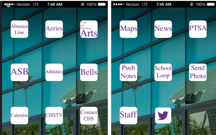 The new Lancer App available for Android and iPhone provides important information to students including the daily schedule, events, teacher contact information and access to grades.