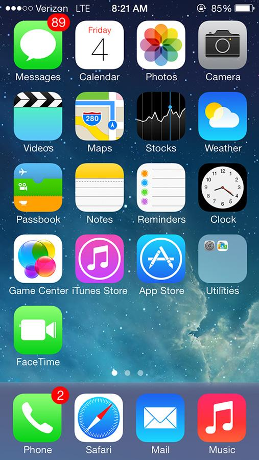 iOS 7 also changed the icons of many common applications, including classics like your Photos and weather. The new interface gave a fresh new look to the apps and added the effect of translucency to provide a more aesthetic appeal.