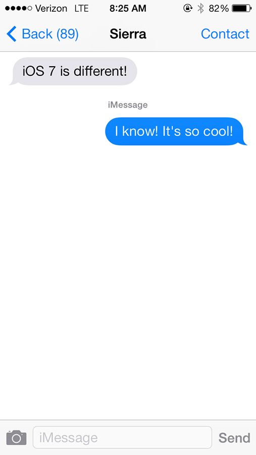 Messages took on a new look and may take some getting used to by long-time iPhone users.