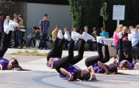 Lancer Dancers perform a hip hop routine at the pep rally Friday. ASB organizes pep rallies before every football game to get students pumped.