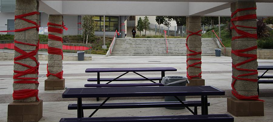 ASB did a great job decorating the whole school in red. The red symbolizes the pledge to be drug free.