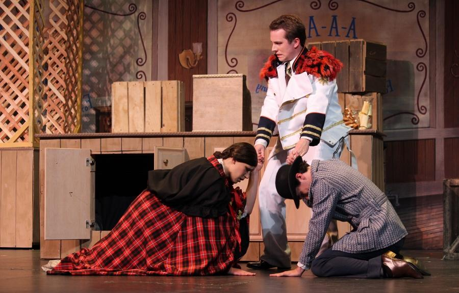Seniors Evan Ridpath, Jessica Streich, and Adam Gilmore also show their support for Mad for Plaid by wearing plaid costumes.  This senior trio have collaborated on many theater performance together throughout their theater careers.