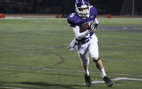 Junior Chris Spiering makes an important run in Friday's match-up against Vista, scoring his first touchdown of the game. Carlsbad came out with the win shutting out the Panthers 42-0.