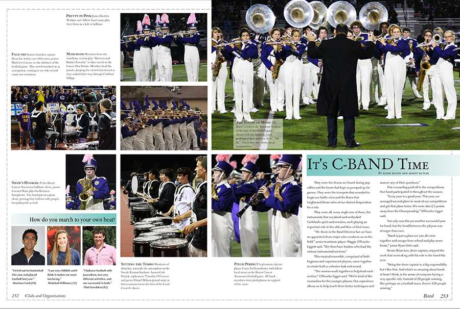Here's a sneak peek at the Band spread from the 2014 yearbook.  Students will see a new look and increased coverage when they pick up their yearbooks in June. Books are on sale at the ASB window for $75.00 until Jan. 20 when prices will increase to $85.00.