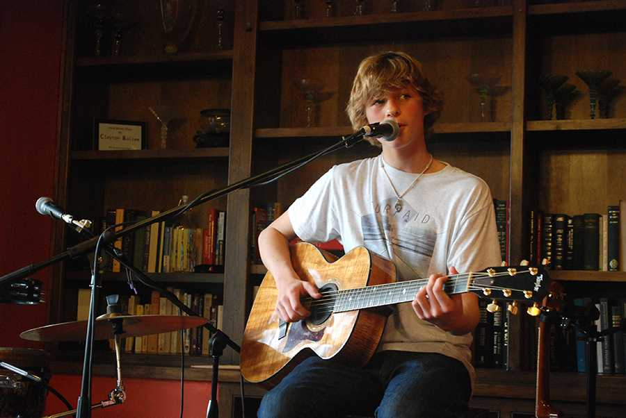 Carlsbads rising musician, Cody Lovaas,  can be seen performing in coffee shops such as Jitters. Cody is only 15-years old but already has developed a major fan base and was recently featured in Carlsbad Magazine.