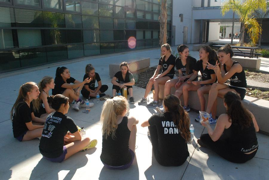 The+Lancer+Dancers++come+together+to+talk+about+upcoming+Nationals.+Nationals+is+held+in+Disney+World+in+Orlando%2CFlorida.
